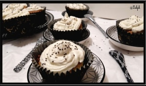 Cupcakes vanillés aux graines de chia