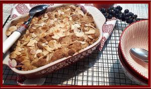 Crumble pommes, raisins et amandes