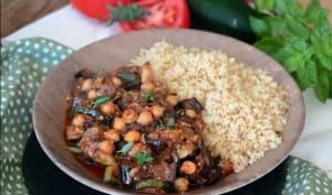 Légumes rôtis à la tomate et aux pois chiches