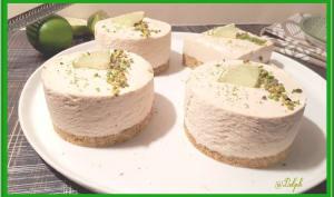 Cheesecake au citron vert et pistache