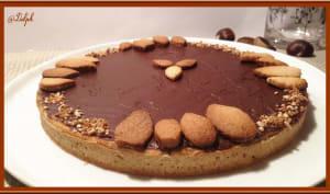 Tarte à la crème de marron et chocolat