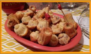Minis cakes au fromage et magret fumé