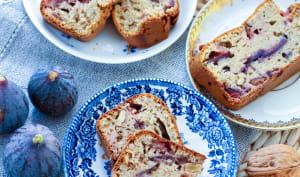 Cake aux figues et noix