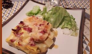 Tortilla de pommes de terre, raclette et bacon