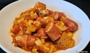 'Currywurst' au chou-fleur