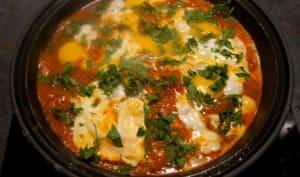 Tajine de tomates aux œufs à la marocaine