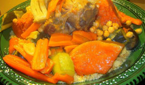 Couscous Marocain légumes et agneau traditionnel