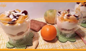 Crème nuage à la mangue, clémentine et spéculoos