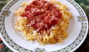 Le régal d'annie: Courgette spaghetti sauce bolognaise Poulet