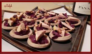 Tartelettes au foie gras et aux pignons