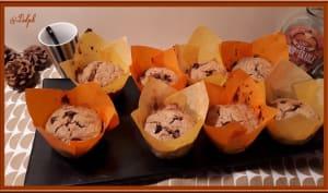 Muffins aux flocons d'avoine, sirop d'érable et chocolat