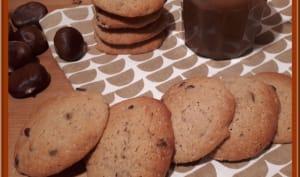 Biscuits moelleux à la crème de marron et pépites de chocolat