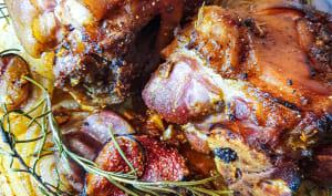 Jarret de porc en deux cuissons