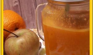 Jus de potimarron, pommes et orange