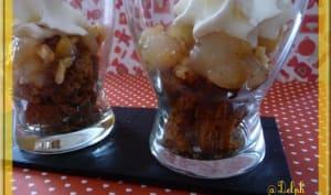 Verrine de pain d'épices et poires