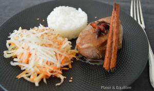 Filet mignon de porc mariné au cinq épices