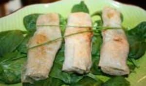 Nems aux crevettes et asperges