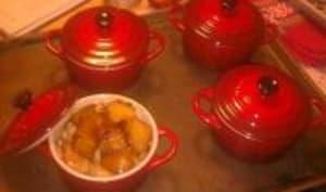 Petits Cocottes de Volailles aux Pommes Caramélisées