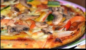 Pizza de pomme de terre aux légumes