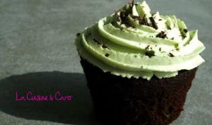 Cupcakes Choco corsé et crème Pistache