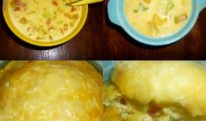 Clafoutis léger aux courgettes, poivrons et jambon italien