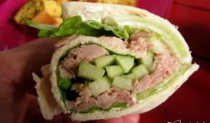 Wrap au thon et au concombre