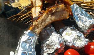 Travers de porc sauce braai