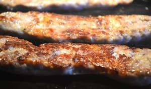 Saucisse de Toulouse grillée à la plancha