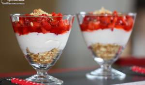 Trifle à la fraise et au fromage blanc