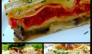 Lasagnes aux aubergines, Brie de Meaux et noix
