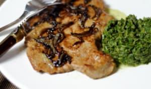 Foie de veau à la florentine, et vinaigre balsamique