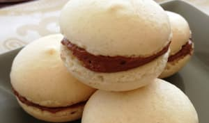 Les macarons au chocolat et au Shrubb