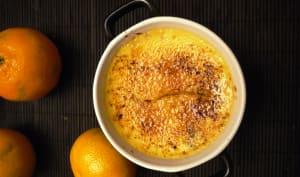 Crème brûlée aux zestes de clémentine