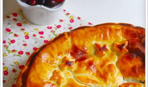 Galette des rois crème d'amandes, poire et cranberry