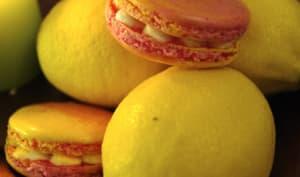 Macarons framboise citron