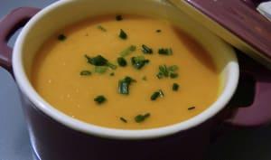 Soupe au potimarron et lait de coco