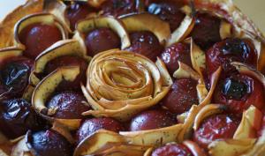 Tarte aux Prunes-Pommes Fleur d'oranger Miel et Pavot