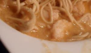 Soupe thaï à la sauce piquante