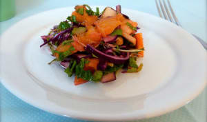 Salade de chou rouge aux fruits