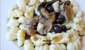 Gnocchi aux bocconcini de lapin