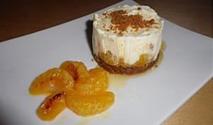 Cheesecake clémentine, miel et speculos