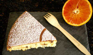 Gâteau moelleux orange sanguine et pépites de chocolat