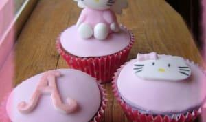 Cupcakes noisette et coeur de Nutella