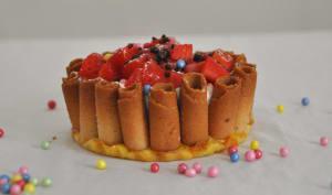 Tartelettes de Cigarettes Russes à la crème de soda et aux fraises