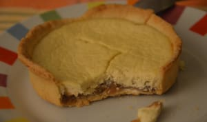 Tartelettes au fromage blanc et à la crème de marron