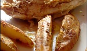 Poulet au lait et potatoes au four