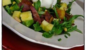 Salade de mâche pour accueillir le printemps