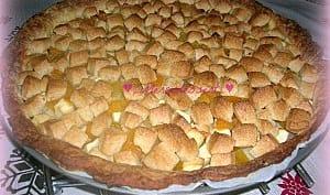 Tarte pomme abricot façon crumble