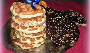 Gaufres liégeoise au sucre perlé et éclats de caramel