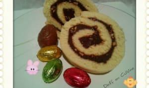 Biscuit roulé au 2 Chocolats